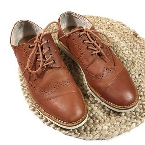 TOMS | Size 9 Brown Leather Oxford Dress Shoes